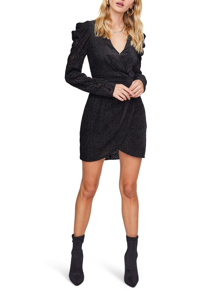 ASTR the Label Stroke of Midnight Beaded Long Sleeve Minidress