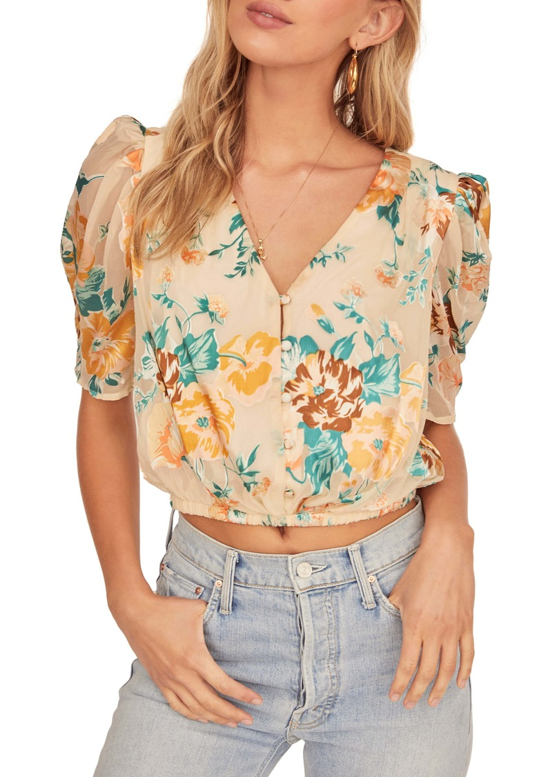 ASTR the Label Sunday Floral Crop Blouse