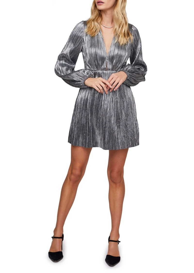 ASTR the Label Supernova Metallic Long Sleeve Dress