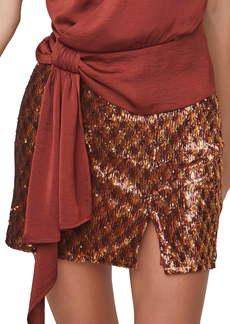 ASTR the Label Tai Sequin Miniskirt