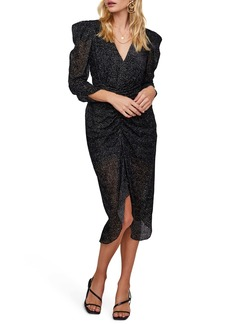 ASTR the Label Toulouse Beaded Ruched Midi Dress