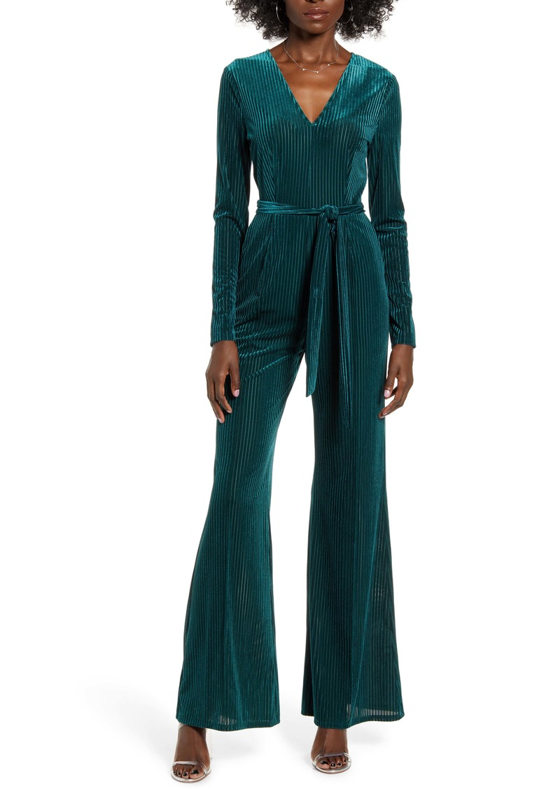 ASTR the Label Velvet Jumpsuit