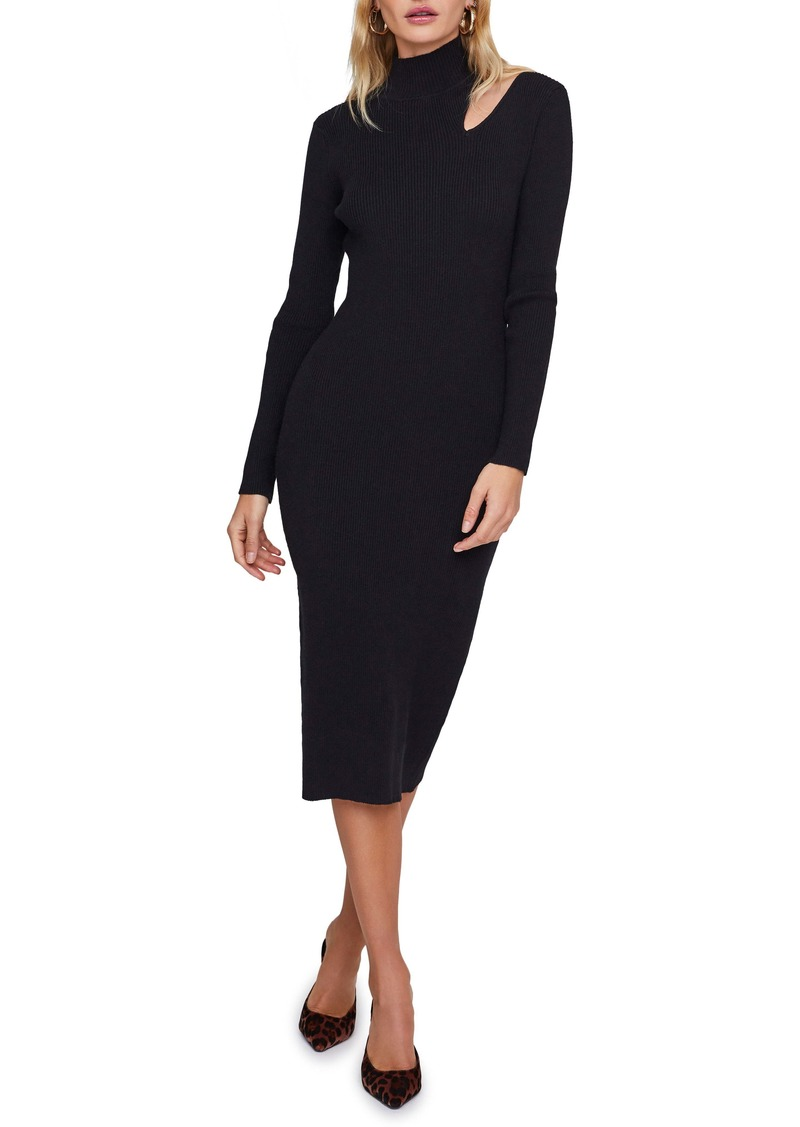 ASTR the Label Vivi Long Sleeve Mock Neck Midi Sweater Dress