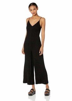ASTR the label Women's Arden Sleeveless Stretch Knit Loose Flowy Cropped Jumpsuit  l