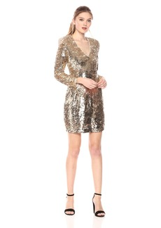ASTR the label Women's Blithe Two Tone Sequin Dress Gold