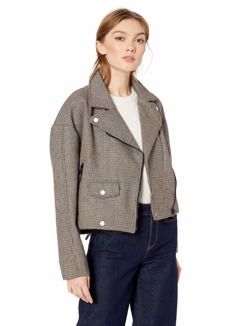ASTR the label Women's Boxy Woven Motorcycle Light Jacket  M