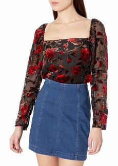 ASTR the label Women's Demetria Square Neck Bodysuit