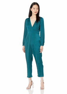 ASTR the label Women's Dusk to Dawn Long Sleeve Plunging Dressy Jumpsuit  M