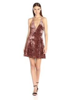 148eaaf55c ASTR the label Women's Faye Velvet Halter Fit & Flare Dress with Open Back