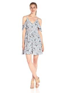 ASTR the label Women's Gabriella Floral Print Cold Shoulder Dress