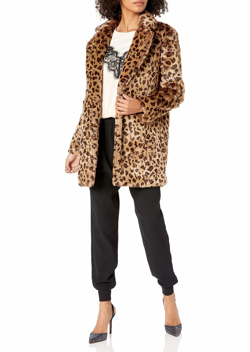 ASTR the label Women's Inez Faux Fur Plush Coat