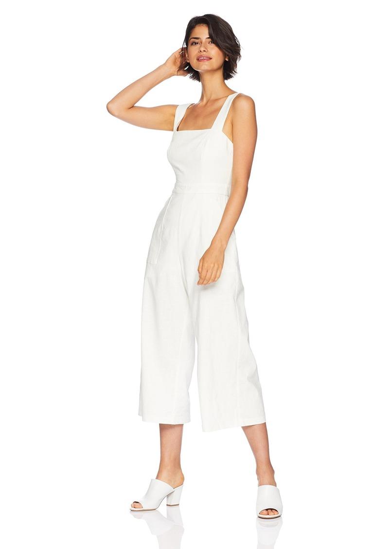 ASTR the label Women's Jordyn Wide Leg Cropped Sleeveless Casual Jumpsuit  S