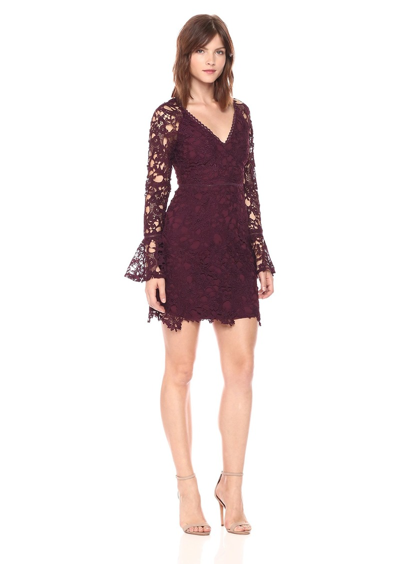 ASTR the label Women's Juliette Lace Long Shift Dress