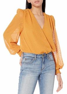 ASTR the label Women's Long Sleeve Dixie V-Neck Bodysuit  M