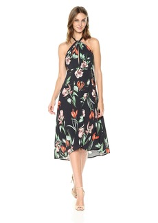 375f0d9d9f ASTR the label Women's Luciana Floral Print Halter Midi Dress Black/Multi