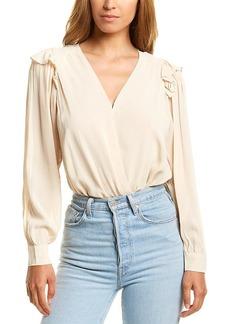 ASTR the label Women's Matilda Long Sleeve Faux Wrap Bodysuit  L