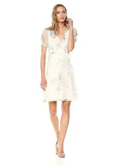 ASTR the label Women's Melody Short Sleeve V Neck Mini Dress