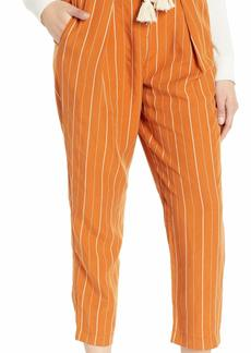 ASTR the label Women's Neo High Waisted Pleated Pinstripe Cropped Pants  XS