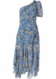 ASTR the label Women's One Shoulder Adriana Drop Waist Midi Dress  S