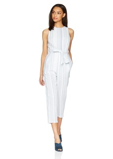 ASTR the label Women's Presley Stripe Cutout Sleeveless Casual Jumpsuit