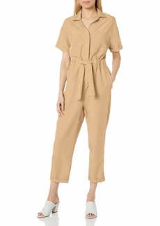 ASTR the label Women's Short Sleeve Miri Collared Jumpsuit  S