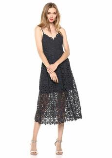 ASTR the label Women's Sleeveless Lace Fit & Flare Midi Dress  XL