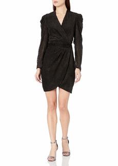 ASTR the label Women's Stroke of Midnight Faux Wrap Short Dress