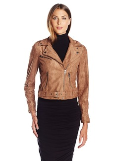 ASTR the label Women's Velma Faux Suede Moto Jacket