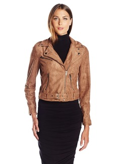 ASTR the label Women's Velma Faux Suede Moto Jacket