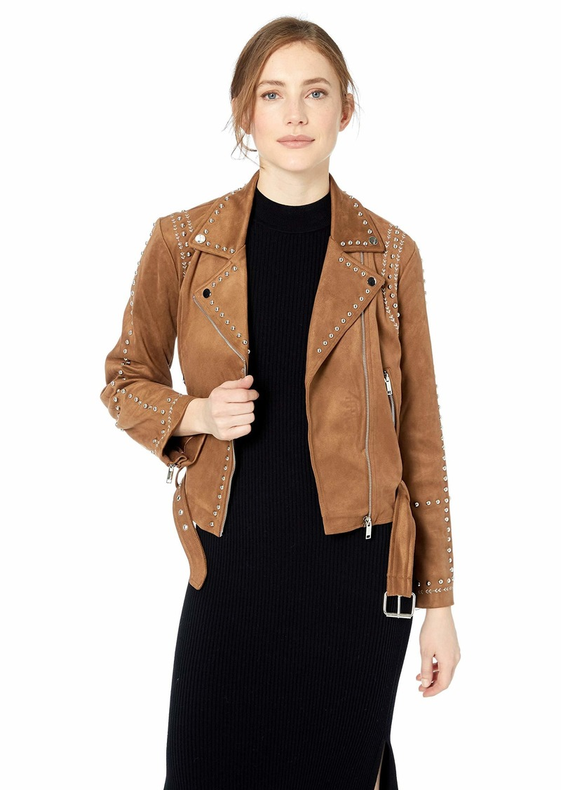 ASTR the label Women's Venice Studed Suded Moto Jacket  S