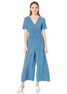 ASTR the label Women's Wrap Front Short Sleeve Wide Leg Jumpsuit  XL
