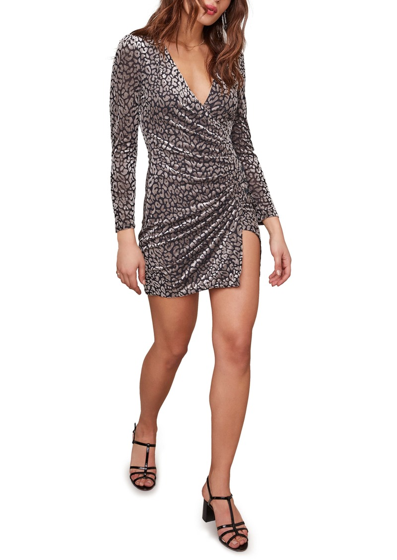 ASTR the Label Yasmin Long Sleeve Faux Wrap Minidress