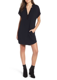 ASTR V-Neck Crepe Shift Dress