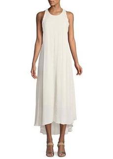 ASTR Victoria Boho Sleeveless Tassel-Back Maxi Dress