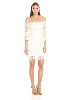 ASTR Women's Madeline Lace Off The Shoulder Dress