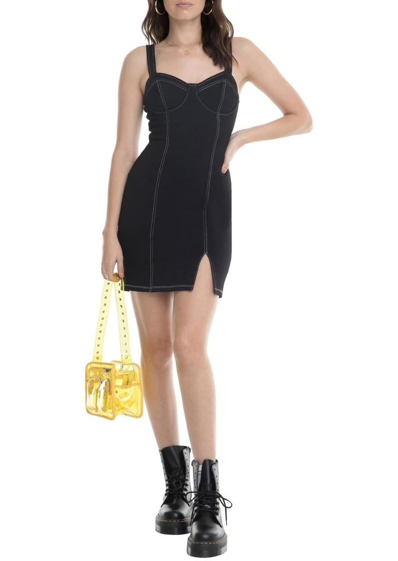 ASTR Topstitch Detail Bustier Dress