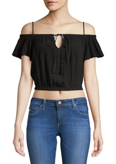 ASTR Lavina Off-The-Shoulder Cropped Top