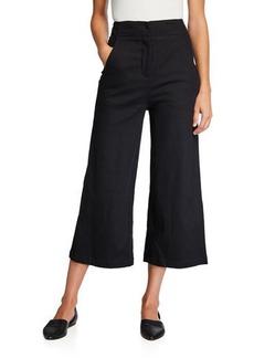 ASTR Nixon High-Rise Wide-Leg Crop Pants