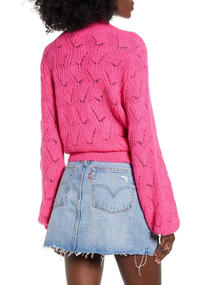 ASTR Pointelle Sweater