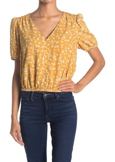 ASTR Puff Sleeve Button Front Blouse