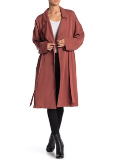 ASTR Solid Midi Trench Coat