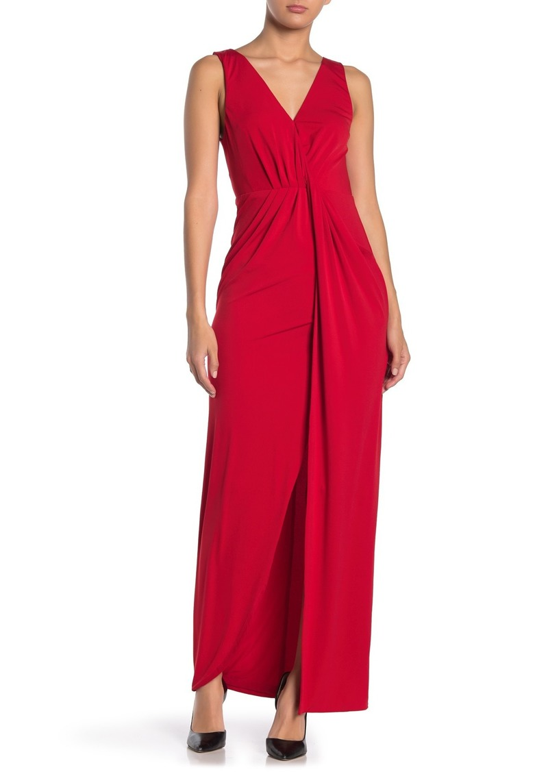 ASTR Twist Front Maxi Dress