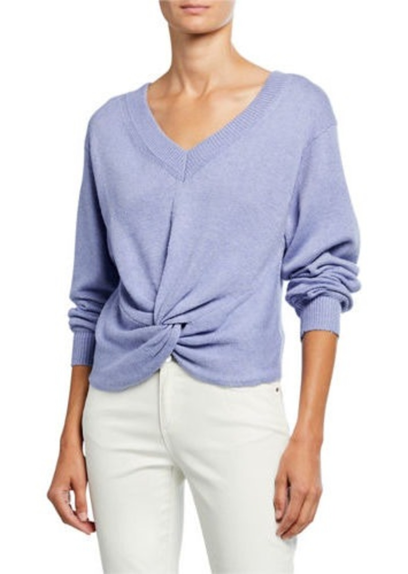 ASTR Twist-Front V-Neck Sweater