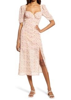 Women's Astr The Label Floral Milkmaid Midi Dress