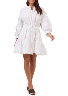 Women's Astr The Label Ruched Shirtdress