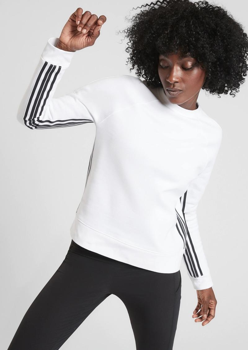 Athleta 24/7 Striped Crew Sweatshirt