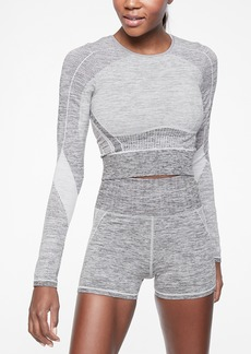 Athleta Agile Colorblock Crop Top