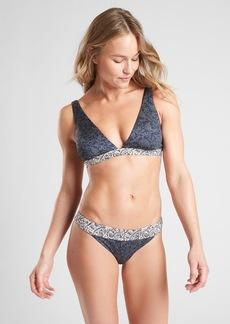 Athleta Aqualuxe Batik Bikini Top