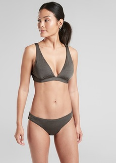 Athleta Aqualuxe Plunge Pullover Bikini Top