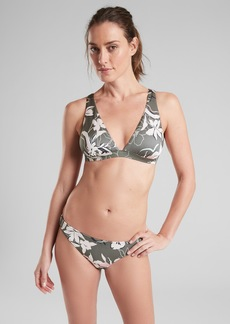 Athleta Aqualuxe Wildflower Plunge Bikini Top